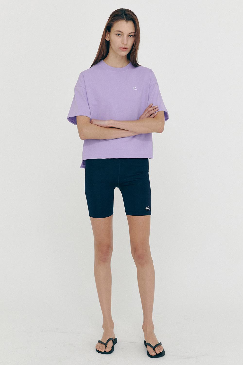 클로브(CLOVE) [SS21 CLOVE] Logo Biker Shorts Navy