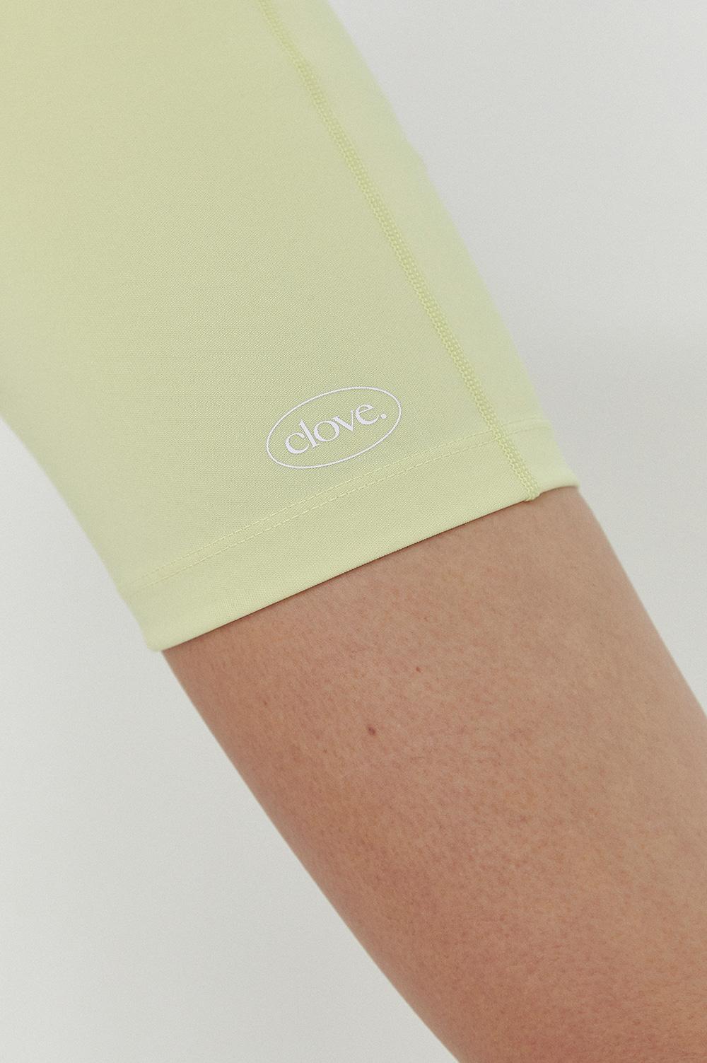 클로브(CLOVE) [SS21] Logo Biker Shorts Lime
