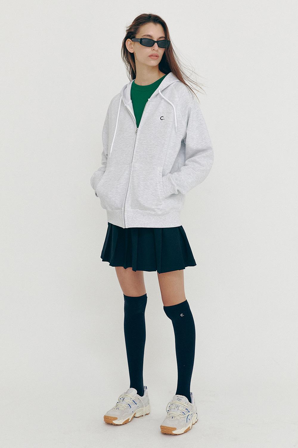 클로브(CLOVE) [SS21] Active Hoody Zip-up Light Grey