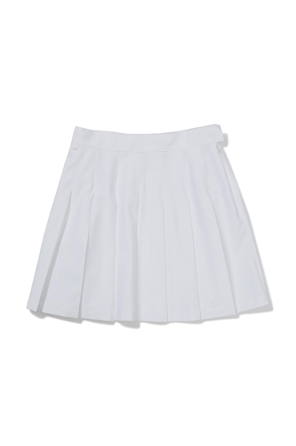 클로브(CLOVE) [SS21] New Pleated Skirt White